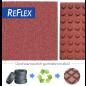 Gumilap ugróiskola ReFlex - 4x50x50 cm, fekete (8 db)