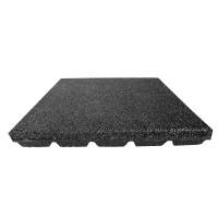 Gumilap esésvédő Reflex - 6x100x100 cm fekete