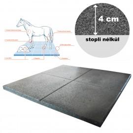 Gumilap EquiFlex istállópadló - 4x100x100 cm fekete st0